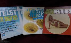 Do you remember those great guitar hits from the 50's & 60's Numbers like Walk Don't Run, Apache, Telstar, Pipeline, Wipe-out, Tequila Groups like The Ventures & The Wheels Here is your chance to purchase three of our vintage collector albums. 1967 The