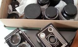 $140 for Brownie Target Six - 20. A lso for sale (negotiable) Mamiyaflex Camera, 6 assorted lenses: Vivitar 1:3.5 62mm, Nikon E 1:2.8 100mm, Tokina SD 1:4 - 5.6 52mm, Hanemex1:2.8 135mm, Soligor 1:3.5 135 mm , Sigma wide angle 1:2.8 28mm, Takumar 1:2.8