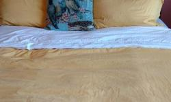 Vintage double bed sanded and weathered to look antique. Mattress not included