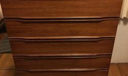 """Mid-century walnut dresser 43.5"""" high, 34"""" wide, 17"""" deep Email, text or call"""