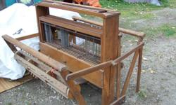 """Vintage floor loom 39"""" long with 6 harnesses.  Comes with heddles and reed.  Excellent shape except for one piece of wood that needs to be re-glued. Located in Blewett just outside of Nelson BC."""