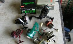 (((Open this ad to view all that is listed.)) VINTAGE FRESH & SALT WATER FISHING REELS. $40.00 - VINTAGE GREEN PENN SPINFISHER 710 SPINNING REEL. (PICTURE 2) From the 1950s, $35.00 - VINTAGE SHAKESPEARE 1984 GE ULTRA REEL. (PICTURE 3) INGLIS CO CANADA.