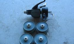 (((Open this ad to view all that is listed.)) VINTAGE J.C. HIGGINS 500 REEL FOR PARTS and SPOOLS. $5.00 - VINTAGE J.C. HIGGINS 500 REEL FOR PARTS. The reel is complete it just needs to be assembled correctly. $5.00 - VINTAGE SPOOLS FOR ABOVE REELS. I have