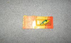 Vintage Lyman handmade wooden fishing plug Frog .Steve 250-479-8348
