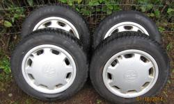 CAME OFF A 1996 JETTA . NICE AND STRAIGHT . TIRES ARE LIKE NEW . WITH FACTORY WHEEL COVERS .