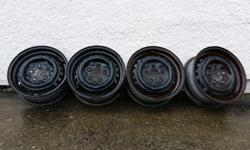 """4 Steel Wheels 14"""" Bolt Pattern 4�112 Sorry don't know the offset, they are off of a 1988 Westfalia Camper Van"""