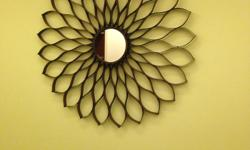 """Metal with small mirror in centre. Diameter is 31.5"""", about 1"""" thick. $30 OBO Email only please"""