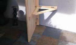 """IKEA - """"Norbo"""", solid maple wall mount table. Measures 22"""" by 30"""". Has some markings.."""
