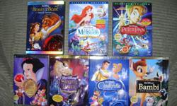 Walt Disney DVD movies and other DVD all in New condition as they have only been played once or twice and the 2nd disk have never been played. Prices as marked .Cash and carry only please. Thank you 1) Beauty and the Beast - Platinum Edition - 2