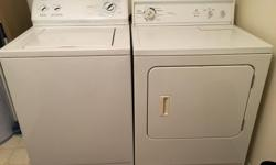 Kenmore. Not a matched set but work great. We are upgrading and need these gone.