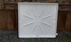 washing machine mat for under the machine incase of water leak. White