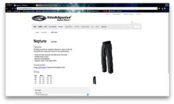 Sstohlquist Neptune waterproof pants. Neoprene ankle gaskets. Padded knees and seat. Used once (a long story!). List price is $180 U.S. .