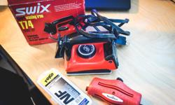 Swix Sport waxing Iron in great condition, and comes with Edge sharpener and extra wax.