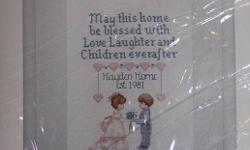 """WEDDING HOME BLESSING CROSS-STITCH KIT BY CREATIVE CIRCLE. FINISHED SIZE IS 12""""X14""""WITH ALL SUPPLIES INCLUDED IN KIT."""