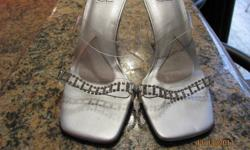 """I have a pair of Jeweled Wedding Shoes size 9 that are in great condition. The heel are 4"""" high but are very comfortable. .Selling for $5. Call 539-5510 or send me a email. I look forward to hearing from you."""