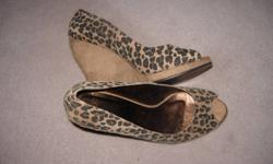 New, never worn, size 11. Colin Stuart (Victoria's Secret), cheetah print wedge...very sexy!