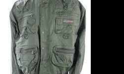 This is the best jacket for fishing or hunting anywhere around. tons of cargo space and wetskins proprietary coatings makes this outdoor jacket a great deal. Only worn once so its almost new.