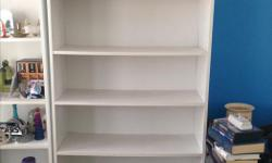 Simple white 6 shelf bookcase. Great for office or kid's room. Call or text.