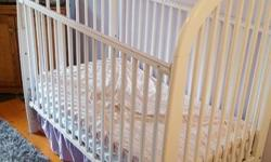white crib, good condition. Does not come with mattress