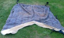 """Blanket lined horse blanket $30 New Zealand rug winter blanket $40 Both have 53"""" centerlines. Both can be used as is, but both would benefit from a little TLC. See my other listings for more tack."""