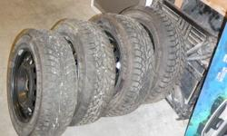 Amost new winter tires on rims. 14 inch Kingstar (Hankook) winter radials on rims. Used less than 2,500 kilometers. Why buy new when you can get these exceptional tires and rims for so little.   Size is: 185/65R 14.