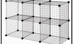 46 pieces of Chrome wire storage cube pieces plus fixtures. number of cubes will depend on the configuration. Excellent for kids rooms, garages