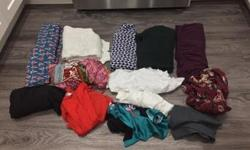 Clothing lot. All items fit like womans small. High Quality. Price is for all 12 items. Can sell separately. Can't post all pictures. Email for all pictures of clothing. Posted with Used.ca app