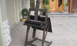 Experienced professional grade wood artist easel. In great condition. Internet search shows replacement value up to $657.00.