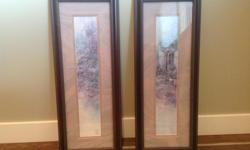 Beautiful wooden framed prints. Can be disassembled and a new print added or kept as is. In excellent condition.