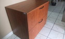 THESE COMMERCIAL-QUALITY, MADE in CANADA, FACTORY ASSEMBLED, 2-DRAWER LATERAL FILE CABINETS are NEW but priced as USED. As seen by the last picture, they are still in their original, factory packaging. They handle legal or letter-size files front to back