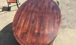 oval table for living room wood