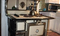 Antique stove converted to electric cooktop