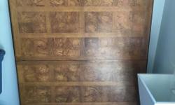 """Wood veneer table top, nicely grained, 67"""" X 44""""."""