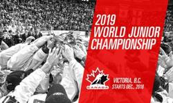 VICTORIA ON ICE FOR THE HOLIDAYS! A PAIR OF: AMAZING SEATS, HARD COPY, IN HAND TICKETS, (SECTION 104 / ROW-D) TO THE WORLD JUNIOR HOCKEY TOURNAMENT FINALS IN VICTORIA AT SAVE ON FOODS CENTRE. THIS AD IS FOR 2 TICKETS JAN 2 / WED / 1:00 PM: QUARTER FINAL