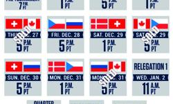 Section 309 Row 8 Seats 1-2 Rogers Arena - Vancouver NOTE - Price shown is for both (2) tickets The World Junior people have made the ticket management portion of their website operational so once payment is received from you I am able to transfer the