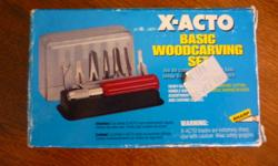 For Sale: X-ACTO Basic Woodcarving Set. Type C handle Comes with 12 different blade types. Great for fine detail! Used once. Bought originally for $32.00 Selling for $10.00. Please email if interested. Thanks for looking!