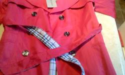 Burberry ladies Jacket Brand New - $100 Hello Looking for a great Christmas gift for your girl or for a girl friend , I have an amazing brand new Ladies Burberry Jacket its fits a Medium. $100 firm Email me if interested Darren Burberry , lululemon ,