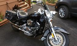 Excellent condition! Loaded with extras including leather saddlebags and lots of Chrome. Lady driven