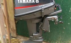 1996 yamaha 6hp short shaft two stroke, Runs great. Asking $600