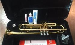 Quality Yamaha trumpet. Just professionally serviced, excellent condition. Band program books included if you choose. $350 obo ($1100 new)