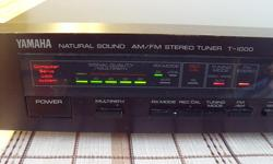 From 1983 this is a high quality sound digital am/fm tuner from reputable Yamaha Electronics Japan. Model T-1000 Computer Servo Lock System. Control for narrow tuning DX stations or wide tuning for Local stations. Also Auto tuning. Controls for Recording