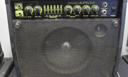 This is a great Yamaha acoustic guitar amp. It features two inputs (one for vocals and one for guitar) each with a separate volume, 5 band EQ, built in Chorus with depth and speed knobs, built in Reverb and a master volume. It also has line out and