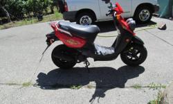 2006 Yamaha BWS Red Scooter , Good shape 3300 KM,S , new battery. 250-652-1289