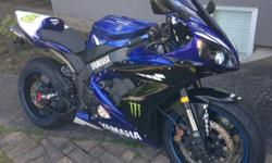 2005 Yamaha R1 for sale. Custom fairings and new paint, less than 2 years ago. The bike has upgraded, suspension front and rear, aftermarket windscreen, rear sets, Shorty leavers, upgraded chain and sprockets. Also has full exhaust upgraded, not slip on.