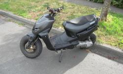 I have a BWS Yamaha scooter. approx. 3500 kms. Excellent body condition. Just serviced at a motorcycle shop. New Stage 6 exhaust. Panelling speciality machined Tun-r handle bars and mirrors. GPS hookup with Tach plug in. More photos via text.