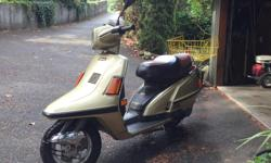 """Make Yamaha Model Riva Year 1985 kms 5400 This beautiful and powerful scooter has just 5400kilometers on it. Except for a couple of small scratches, this scooter is """"as new"""". It has been stored properly and always in a heated storage facility. It purrs"""