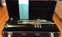 Yamaha trumpet, model YTR-2320 in excellent condition. One very minor scratch on the bell. Really nice instrument. Comes with case and mouth piece. I used it in highschool, but it has sat in storage for a number of years now. Time to pass it on to someone