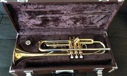 Gold Yamaha trumpet in great condition! Model #YTR2320. Comparable model sells for $650 at Long & McQuade. See website link below. Sadly selling as we are moving and can not take it with us. Case included.