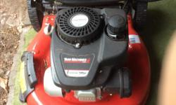 We are moving to a condo Lawn mower with grass catcher Only used twice, like new