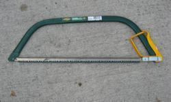 Yardworks 24 inch bowsaw like new .Steve 250-479-8348